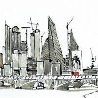View from Bankside - Les Williams