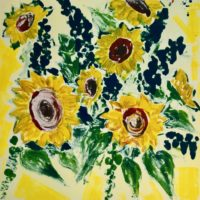 For you (sunflowers & delphiniums)  01.02 - Anabel MacIver