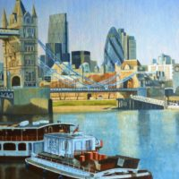 Tower Bridge with Barges - Joe Rowson