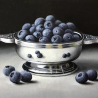 Silver Quaich with Blutberries - Anne Songhurst