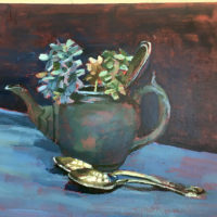 Pewter Pot and Silver Spoons - Beverley Bentley