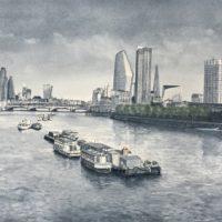 View From Waterloo Bridge - Rhodri Jones