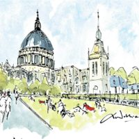 St Pauls Summer Day - Les Anderson
